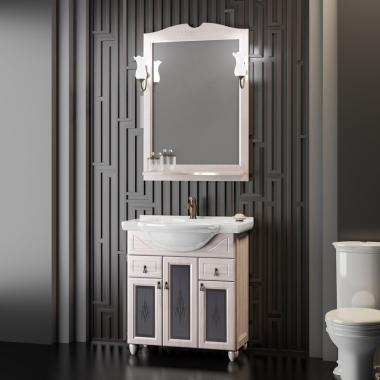 Комплект мебели со стеклом Opadiris Тибет 70 белый