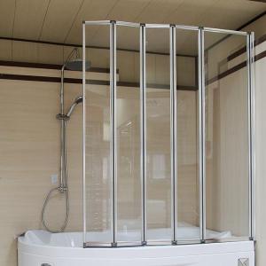 Стеклянная складная шторка на ванну 5 секции
