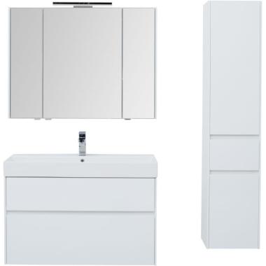 Комплект мебели для ванной Aquanet Бруклин 100 белый