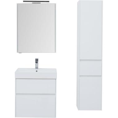 Комплект мебели для ванной Aquanet Бруклин 60 белый