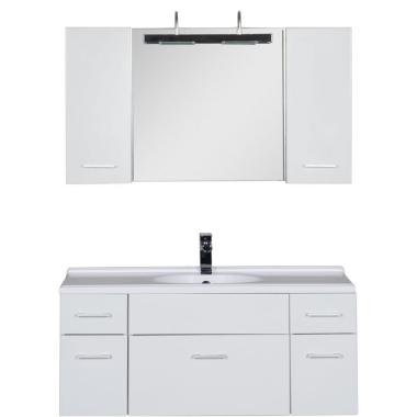 Комплект мебели для ванной Aquanet Данте 110 белый (2 навесных шкафчика)