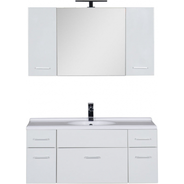 Комплект мебели для ванной Aquanet Данте 110 белый (камерино 2 навесных шкафчика)