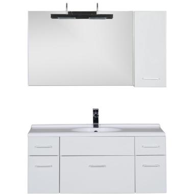 Комплект мебели для ванной Aquanet Данте 110 L белый (1 навесной шкафчик)