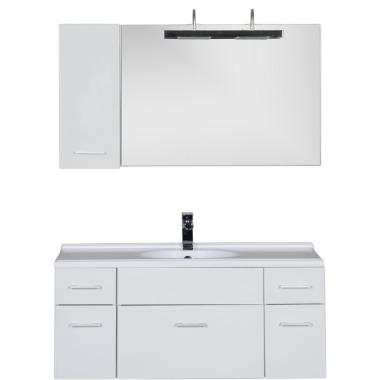 Комплект мебели для ванной Aquanet Данте 110 R белый (1 навесной шкафчик)