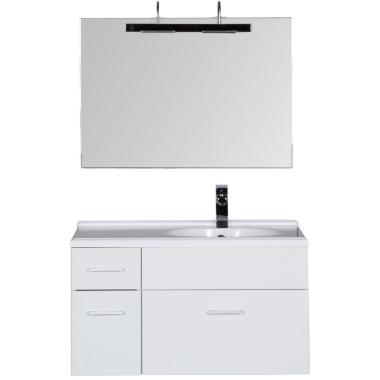 Комплект мебели для ванной Aquanet Данте 85 R белый