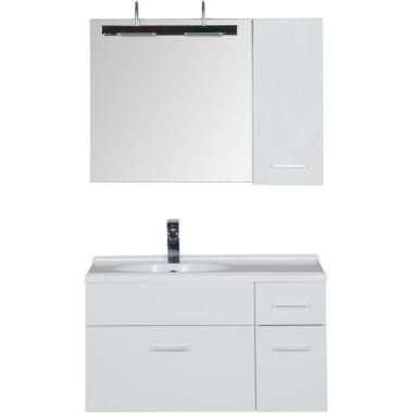 Комплект мебели для ванной Aquanet Данте 85 L белый (1 навесной шкафчик)
