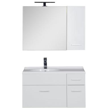 Комплект мебели для ванной Aquanet Данте 85 L белый (камерино 1 навесной шкафчик)