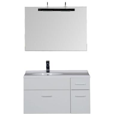 Комплект мебели для ванной Aquanet Данте 85 L белый