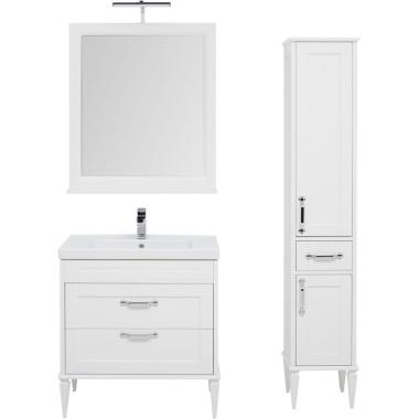 Комплект мебели для ванной Aquanet Денвер 80 белый
