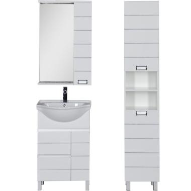 Комплект мебели для ванной Aquanet Доминика 55 белый