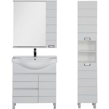 Комплект мебели для ванной Aquanet Доминика 80 бк белый