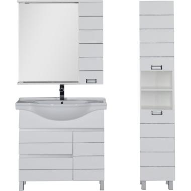 Комплект мебели для ванной Aquanet Доминика 90 L белый