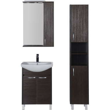 Комплект мебели для ванной Aquanet Донна 60 венге (2 дверцы)
