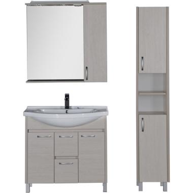 Комплект мебели для ванной Aquanet Донна 90 белый дуб