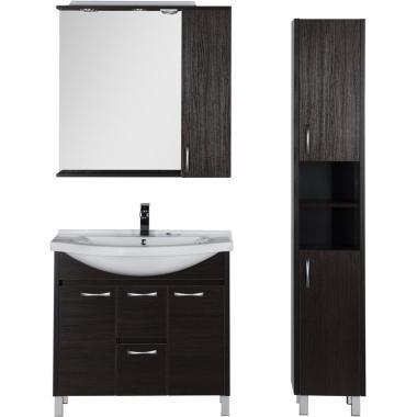 Комплект мебели для ванной Aquanet Донна 90 венге