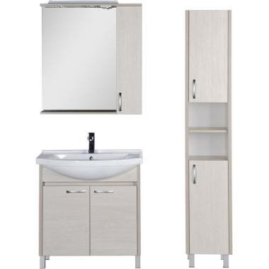Комплект мебели для ванной Aquanet Донна 80 белый дуб