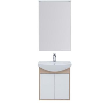 Комплект мебели для ванной Aquanet Грейс 60 дуб сонома/белый (2 дверцы)