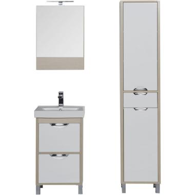 Комплект мебели для ванной Aquanet Гретта 50 светлый дуб