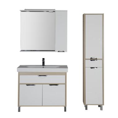 Комплект мебели для ванной Aquanet Гретта 100 светлый дуб