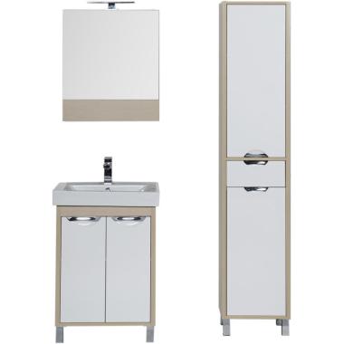 Комплект мебели для ванной Aquanet Гретта 60 светлый дуб (камерино 2 дверцы)