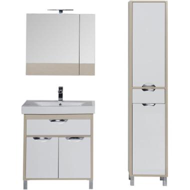 Комплект мебели для ванной Aquanet Гретта 75 светлый дуб (камерино)