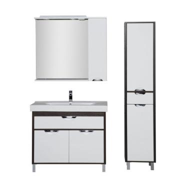 Комплект мебели для ванной Aquanet Гретта 100 венге