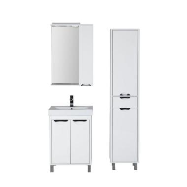 Комплект мебели для ванной Aquanet Гретта 60 белый (2 дверцы)