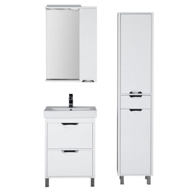 Комплект мебели для ванной Aquanet Гретта 60 белый (2 ящика)