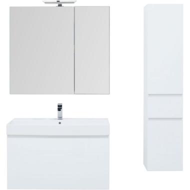 Комплект мебели для ванной Aquanet Йорк 100 белый