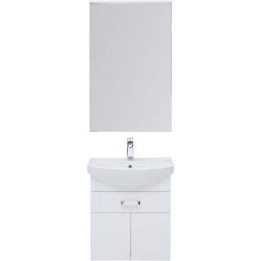 Комплект мебели для ванной Aquanet Ирис 60 белый (1 ящик, 2 дверцы)