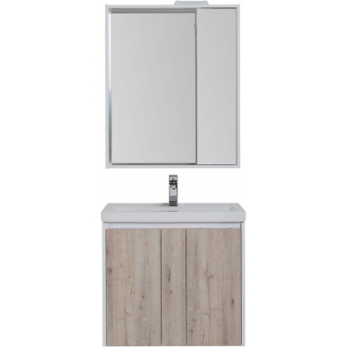 Комплект мебели для ванной Aquanet Клио 70 дуб кантри/белый