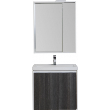 Комплект мебели для ванной Aquanet Клио 60 эвкалипт мистери/белый