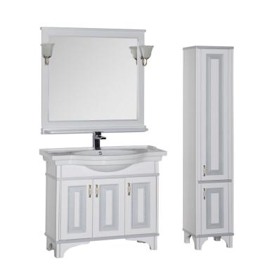 Комплект мебели для ванной Aquanet Валенса 100 белый краколет/серебро