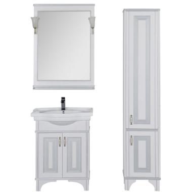 Комплект мебели для ванной Aquanet Валенса 80 белый краколет/серебро
