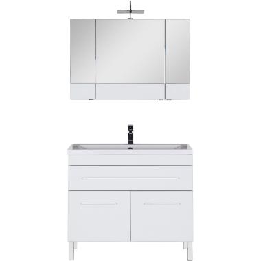 Комплект мебели для ванной Aquanet Верона 100 белый (напольный 1 ящик 2 дверцы)