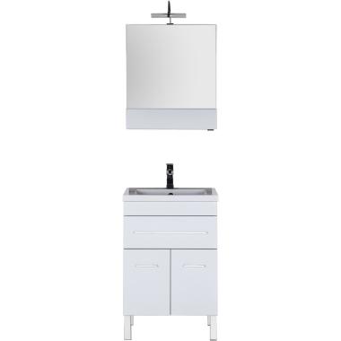 Комплект мебели для ванной Aquanet Верона 58 белый (напольный 1 ящик 2 дверцы)