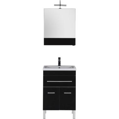 Комплект мебели для ванной Aquanet Верона 58 черный (напольный 1 ящик 2 дверцы)