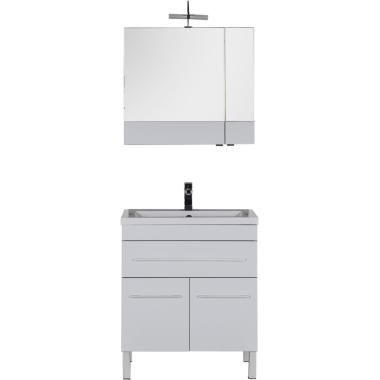 Комплект мебели для ванной Aquanet Верона 75 белый (напольный 1 ящик 2 дверцы)