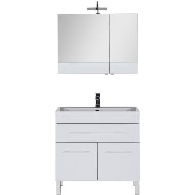 Комплект мебели для ванной Aquanet Верона 90 белый (напольный 1 ящик 2 дверцы)