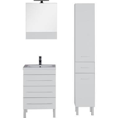 Комплект мебели для ванной Aquanet Верона 58 белый (напольный 3 ящика)
