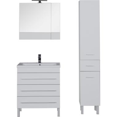 Комплект мебели для ванной Aquanet Верона 75 белый (напольный 3 ящика)