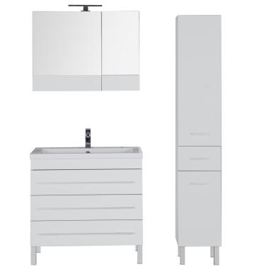 Комплект мебели для ванной Aquanet Верона 90 белый (напольный 3 ящика)