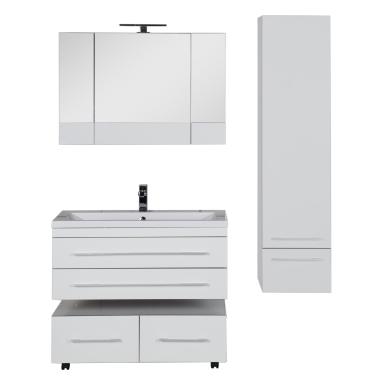 Комплект мебели для ванной Aquanet Верона 100 белый (подвесной 2 ящика)