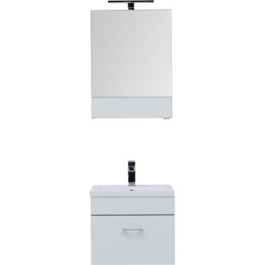Комплект мебели для ванной Aquanet Верона 50 белый (подвесной 1 ящик)