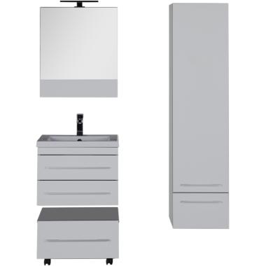 Комплект мебели для ванной Aquanet Верона 58 белый (подвесной 2 ящика)