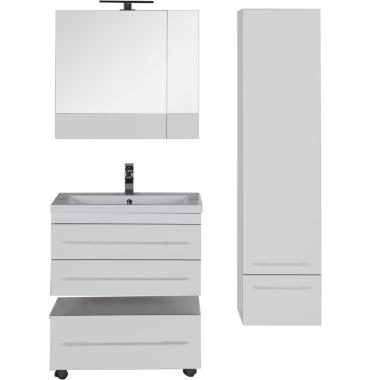 Комплект мебели для ванной Aquanet Верона 75 белый (подвесной 2 ящика)
