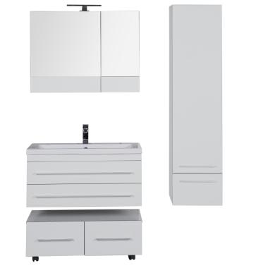 Комплект мебели для ванной Aquanet Верона 90 белый (подвесной 2 ящика)