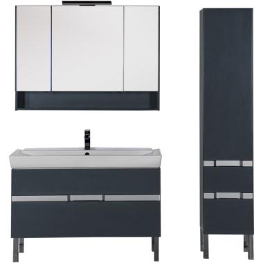 Комплект мебели для ванной Aquanet Виго 120 сине-серый