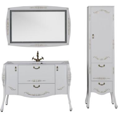 Комплект мебели для ванной Aquanet Виктория 120 белый/золото