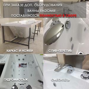 Состав поставки - ванны Radomir
